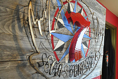 image of 7 Seas' Logo in their Taproom, courtesy of our Flickr page