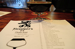 the Hard Liver Barleywine 2011 menu and a Black Raven Old Birdbrain 2009, courtesy of our Flickr page