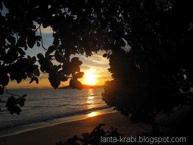 Sunset Ao Nang Beach