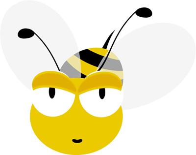imagen de abeja volando de frente