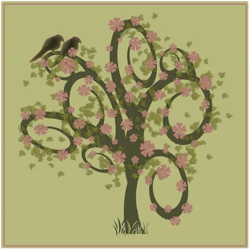imagen de pajaros y arbol, image of birds and trees