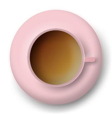 imagen de taza rosa vista desde arriba