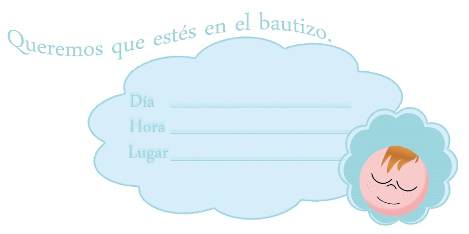 invitación de bautizo para imprimir christening invitation for