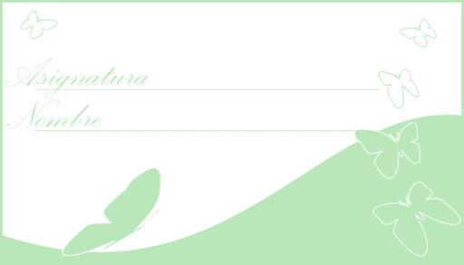 etiquetas para personalizar libros y libretas con mariposas