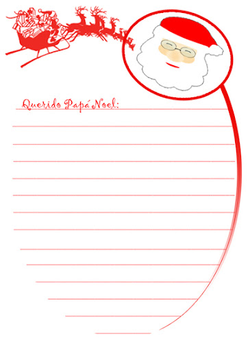 carta papa noel para imprimir