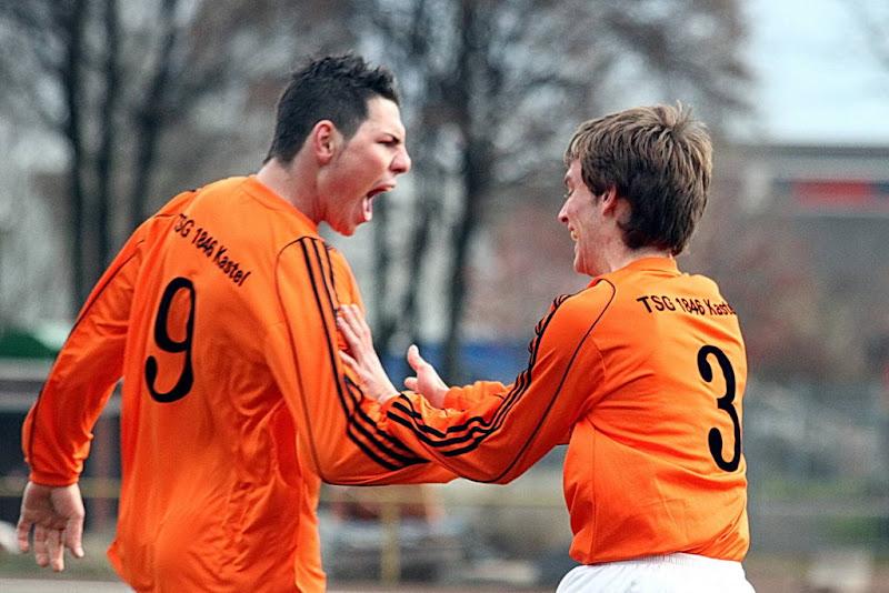 Kevin Krämer und Steven Coigné nach dem 1:0