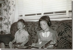 1954 Stephen and Nikki are reading, El Paso, Texas