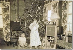 NIKKI AND STEVE, CHRISTMAS MORNING, PROBABLY 1952