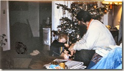 Millay Road Christmas Stephen Petroff and a child