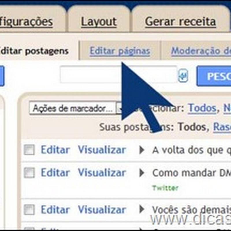 Páginas estáticas no Blogger/Blogspot