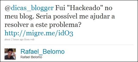 Tweet do Rafael