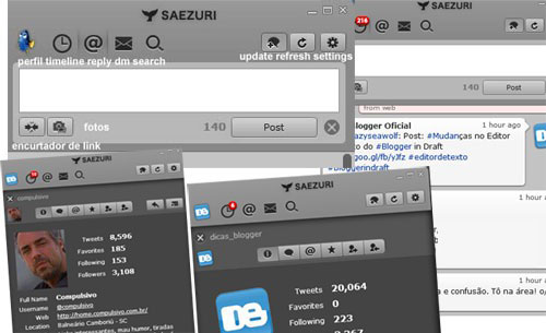 Interface do Saezuri