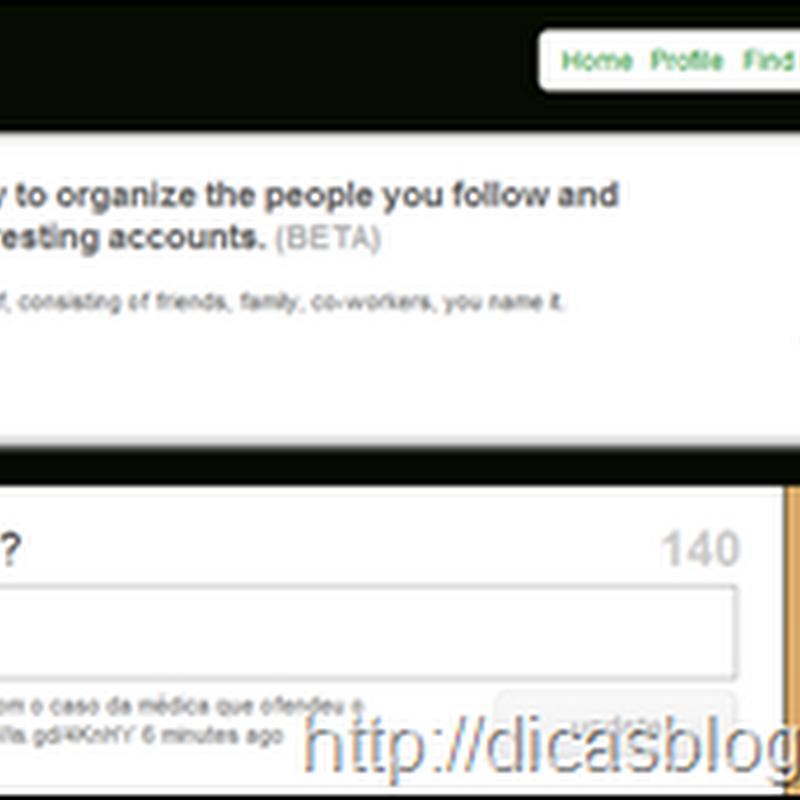 Como criar listas no Twitter