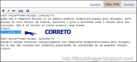 Código html corrigido