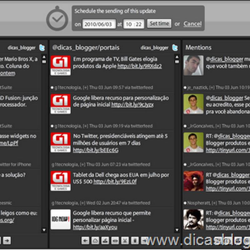 Como agendar e filtrar tweets no TweetDeck
