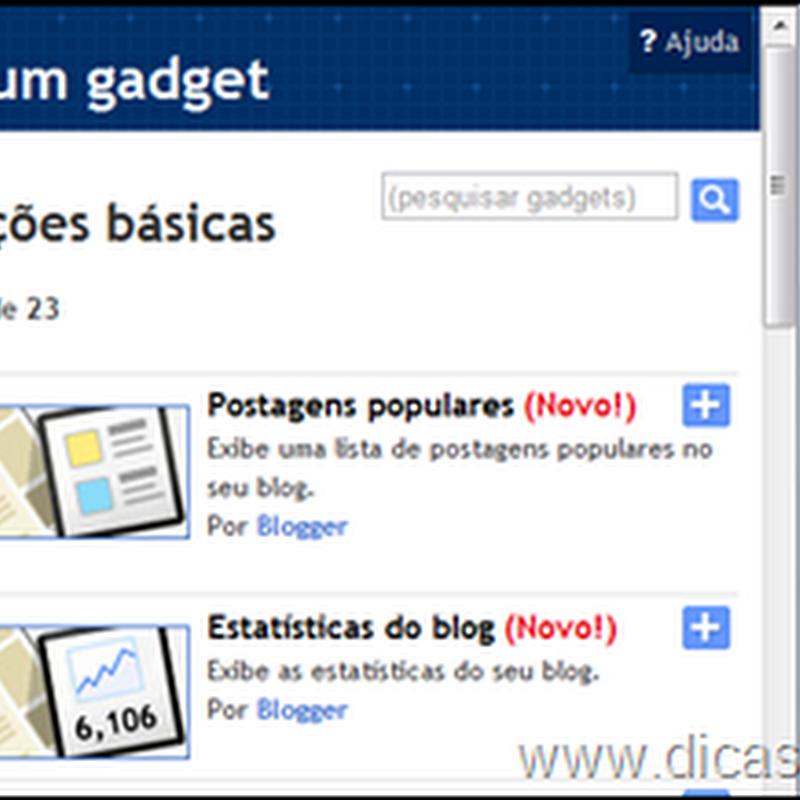 Novo gadget – Postagens populares