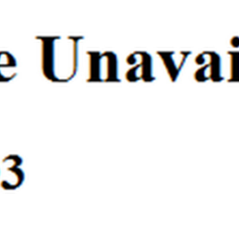 Erro 503 no Blogger - Service Unavailable