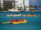 Outrigger canooes - Hawaii Five O scenes