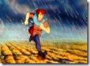 Pioggia, vento e gelo lo inzuppano completamente. Cosa fare? Dove andare?