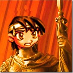 statua del beneamato sindaco in oro massiccio