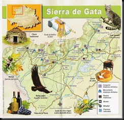 Sierra de gata Mapa