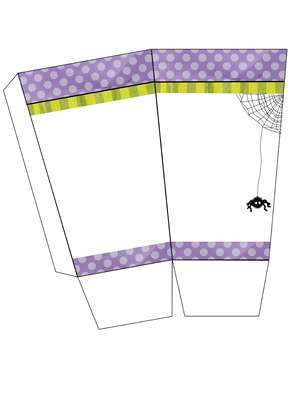 halloween popcorn box printable