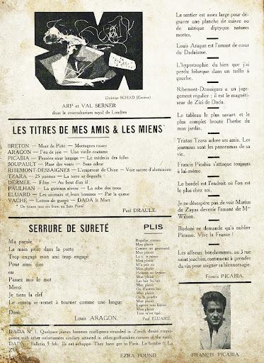Los Affreux Bonshommes de Francis Picabia beben vino para tratar su blenorragia en el número 3 de la rue Saint Joachim