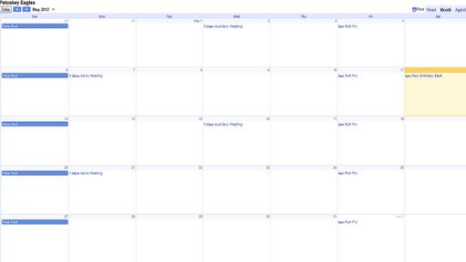 FOE 2462 Calendar