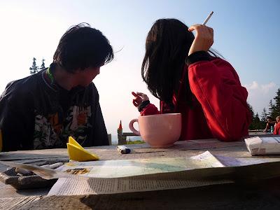 Fagaras. Cabana Barcaciu. la un ceai cu rom
