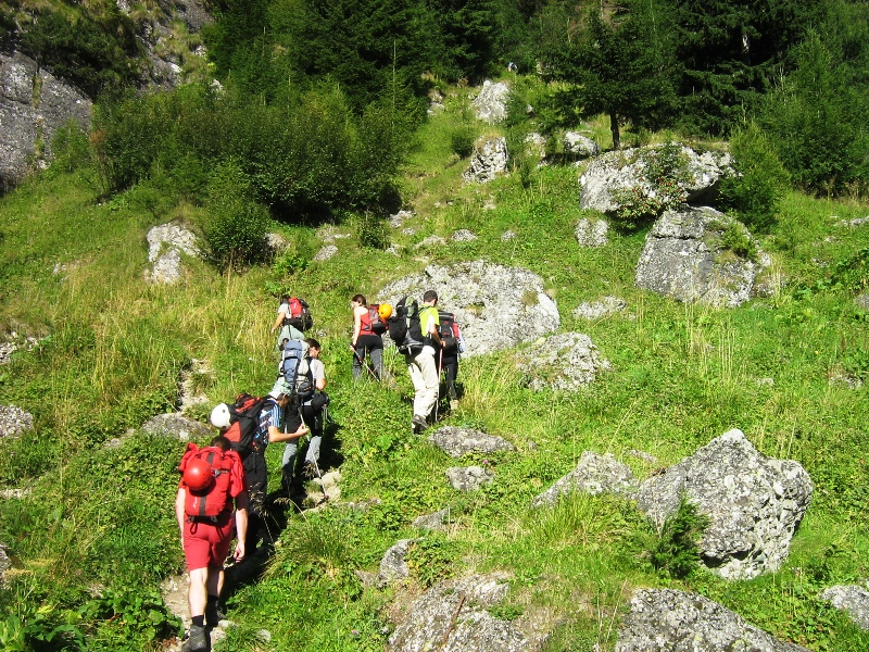Bucegi -Valea Cerbului - traseu marcat banda galbena