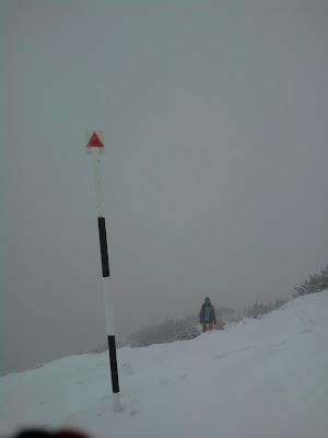 iarna pe munte: viscol si ceata