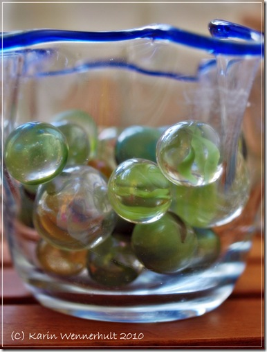 turkosgrönaglaskulor