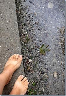 Wet Barefoot Run 9755