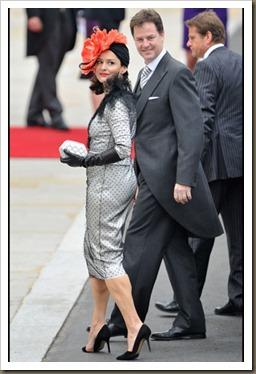 Nick Clegg y Miriam Gonzalez