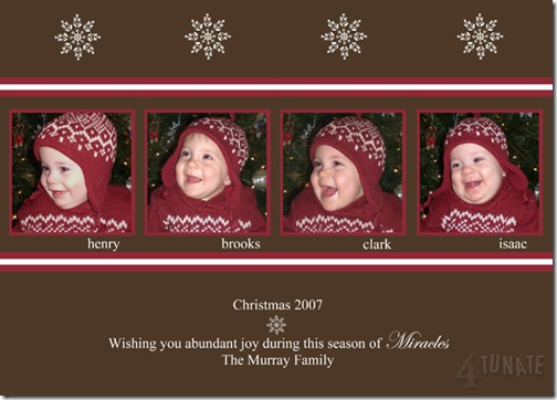 quadruplet Christmas card