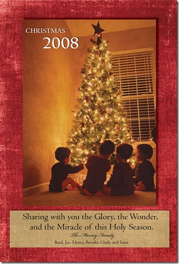 quadruplets christmas card