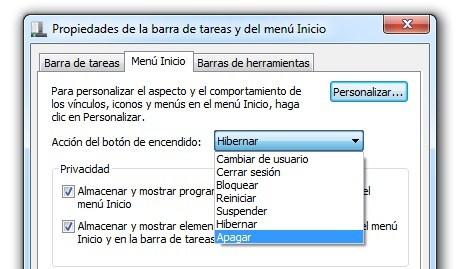 """2010 03 02%2012h53 26 Cómo cambiar la opción """"Apagar"""" por defecto en Windows 7"""
