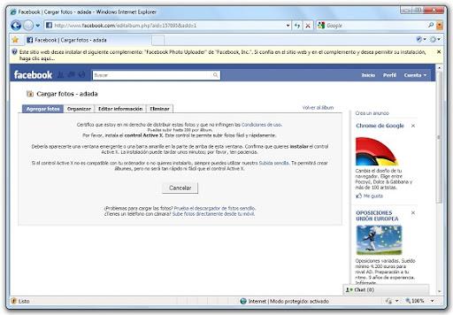 greenshot 2010 03 25 08 36 18 Cómo instalar el plugin ActiveX de Facebook para subir fotos