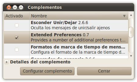 screenshot1 Iniciar Pidgin minimizado en la bandeja del sistema