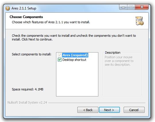 greenshot 2009 10 13 09 46 28 Guía de instalación de Ares: te enseñamos a instalar Ares paso a paso