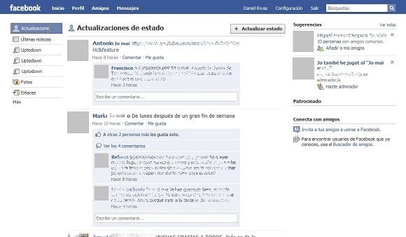 """greenshot 2009 10 26 21 13 07 Devuelve las """"noticias"""" de Facebook a su antiguo estado"""