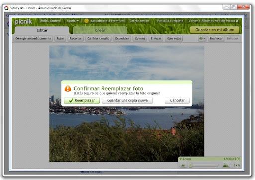 greenshot 2010 07 15 10 23 37 Edita tus fotos de Picasa Web Albums con Picnik