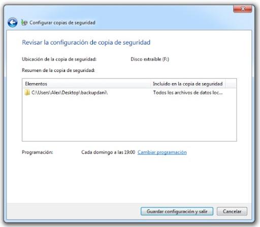 4 Cómo hacer una copia de seguridad con Windows 7