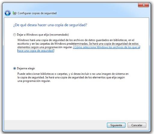 2 Cómo hacer una copia de seguridad con Windows 7