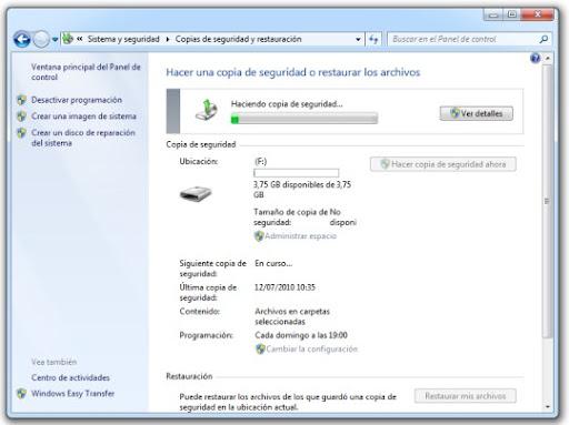 6 Cómo hacer una copia de seguridad con Windows 7