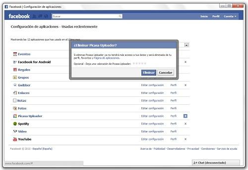 greenshot 2010 07 19 10 29 52 Cómo desinstalar una aplicación de Facebook