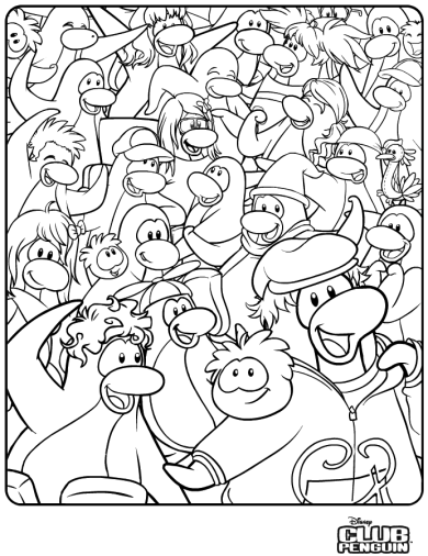 saraapril in club penguin new coloring page in club penguin