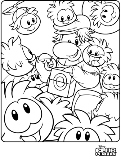 Coloring Page Club Penguin