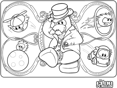 Saraapril in Club Penguin: Fair Coloring Pages :)