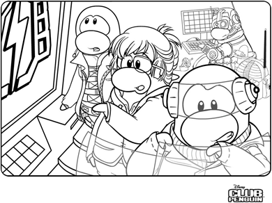 club penguin coloring pages 27180 pokemon club penguin ninja